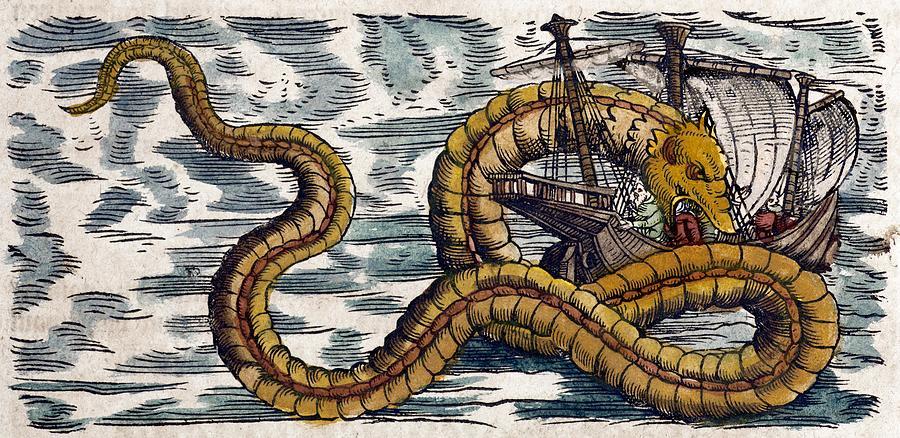 1558-gessner-sea-serpent-attacks-ship-cu-paul-d-stewart