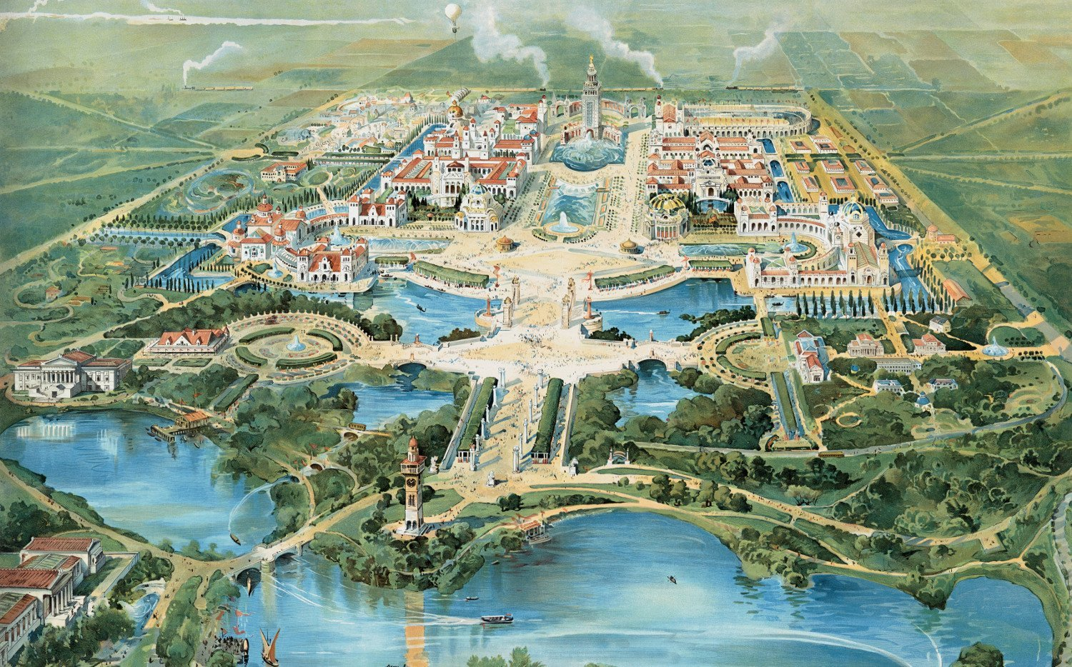 Bird's eye view of Buffalo's Pan-American Exposition of 1901 - KNOWOL