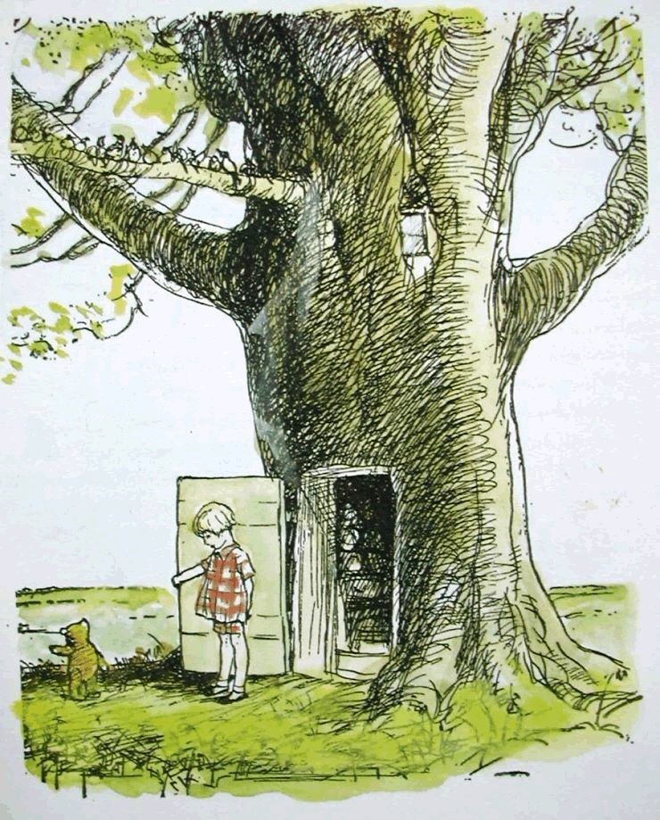 Door to hundred acre wood | Winnie the pooh pictures, Cute winnie ...