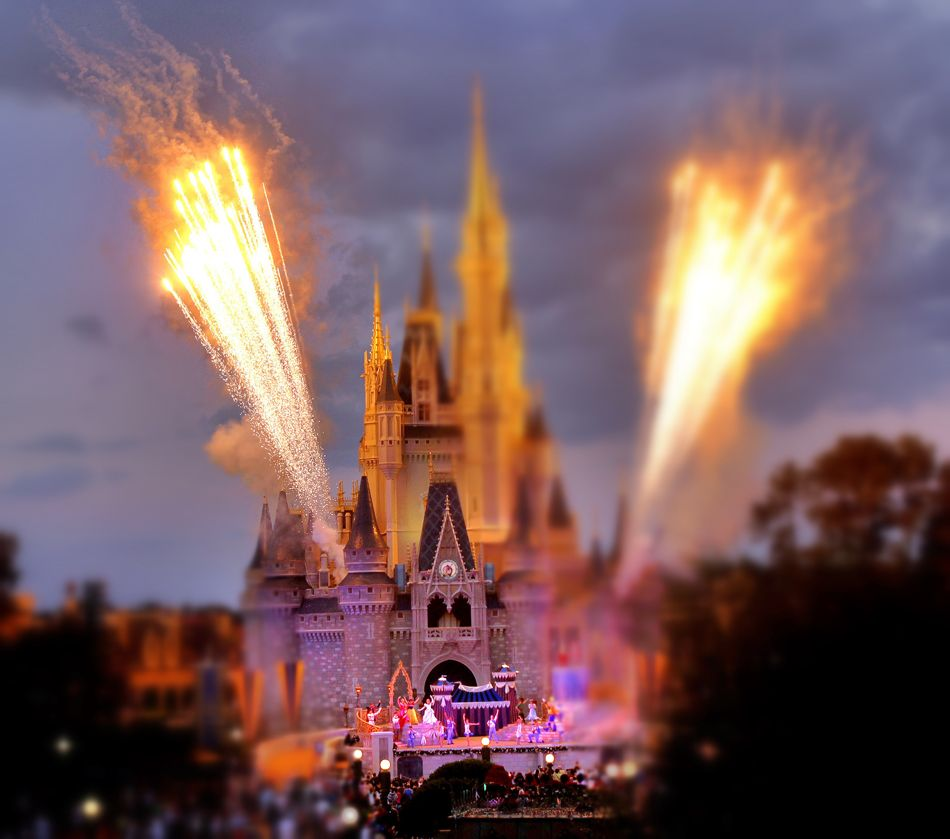 Walt Disney World, as seen through miniature imaging. These images ...