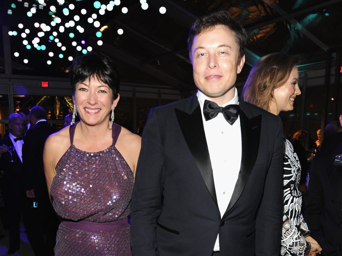 Elon Musk denies knowing Ghislaine Maxwell after 2014 image ...