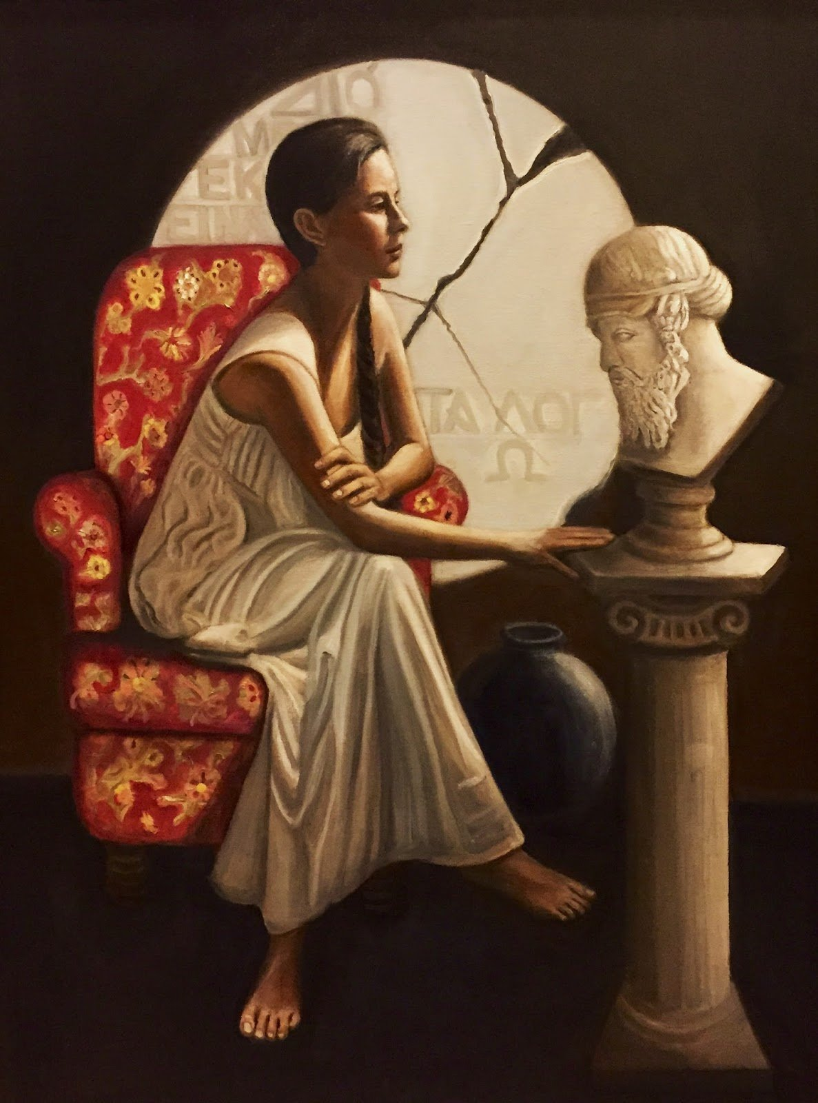 2a Hypatia Contemplating the Bust of Plato (1)