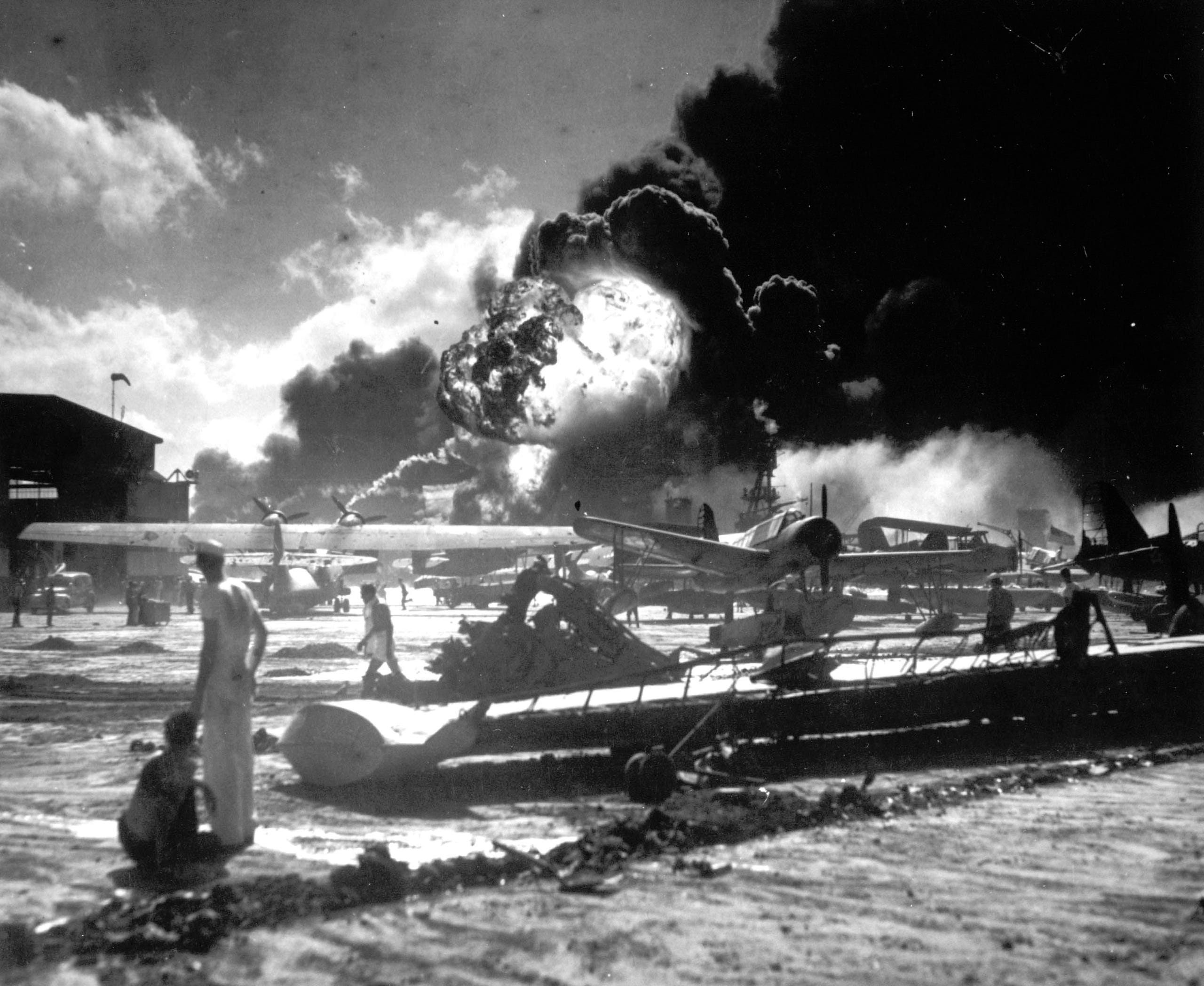 Staggering photos from the attack on Pearl Harbor: Dec. 7, 1941