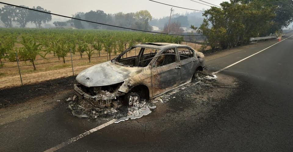 """Mike Coudrey on Twitter: """"Another highly unusual issue with the California wild fires is the melting of aluminum and steel. Forest fires cannot melt steel beams. Also, if you look in the"""