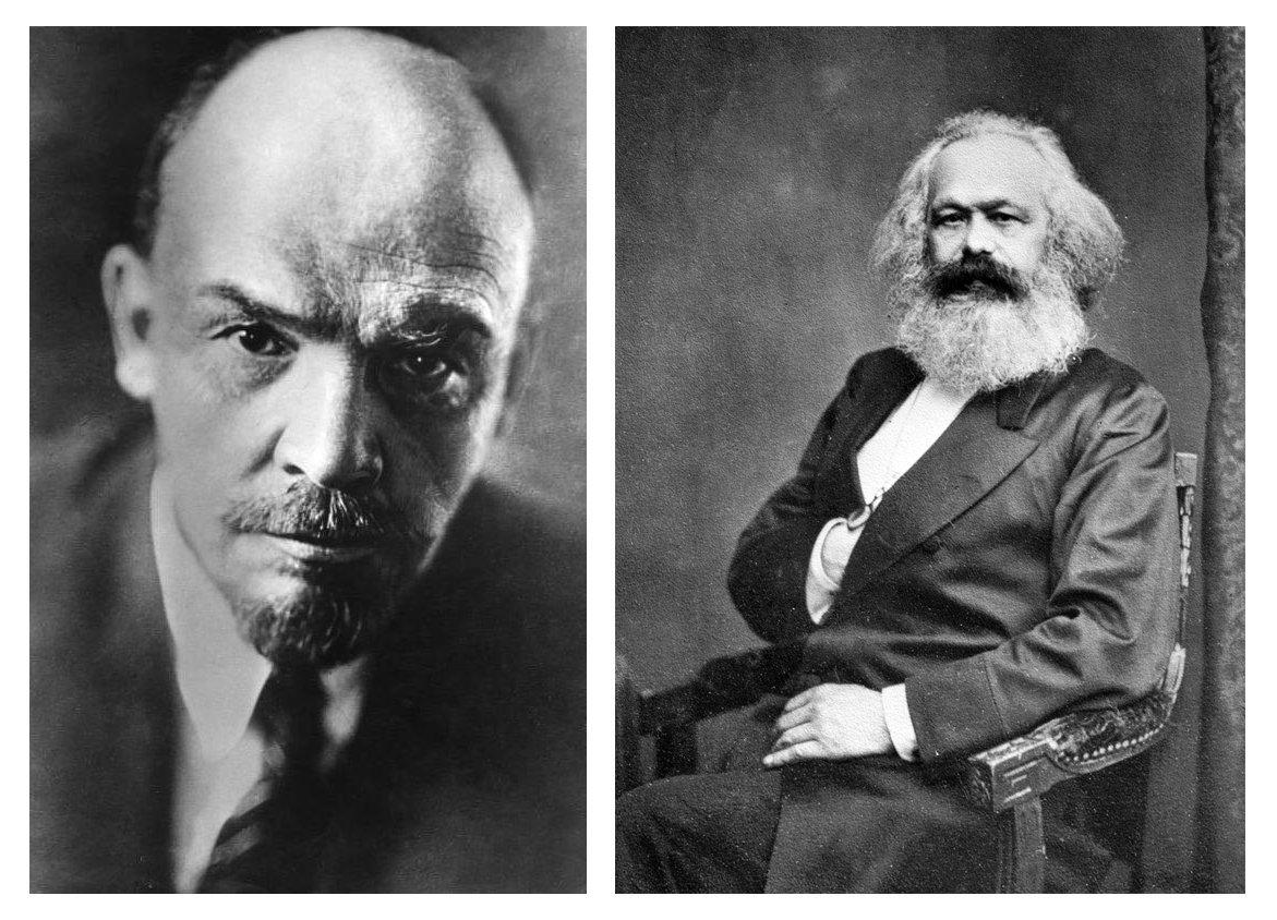Vladimir Lenin and Karl Marx