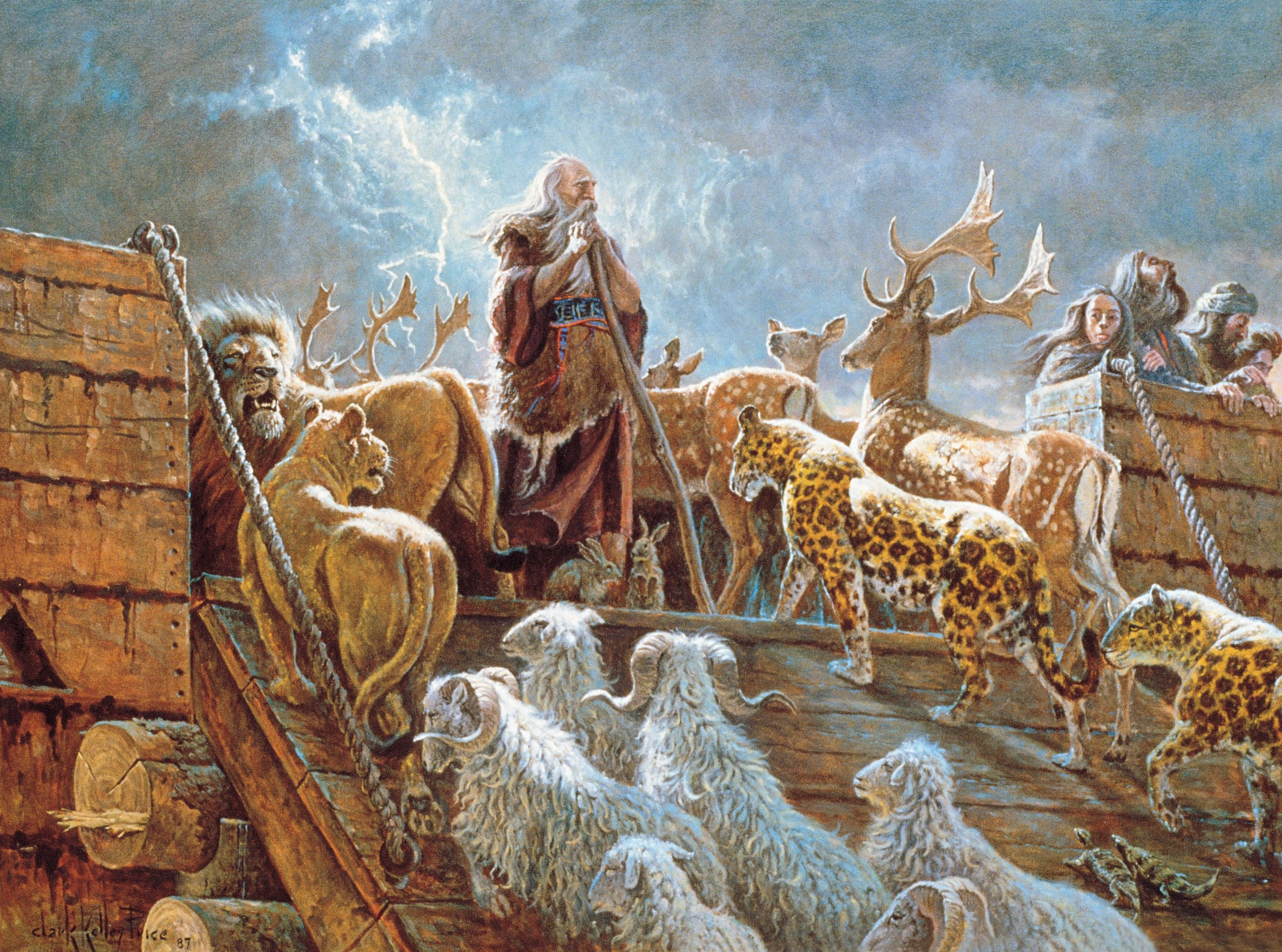 Noah and the Ark with Animals (The Lord Fulfilleth All His Words)
