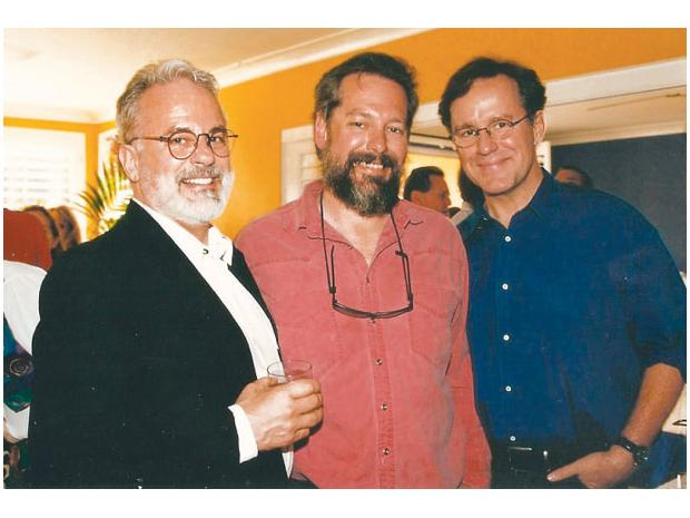 John, Paul and Phil Hartman in 1995. Phil was on Saturday Night Live and voiced such Simpsons characters as Troy McClure and Lionel Hutz. In 1998, he was murdered by his wife, who then killed herself.