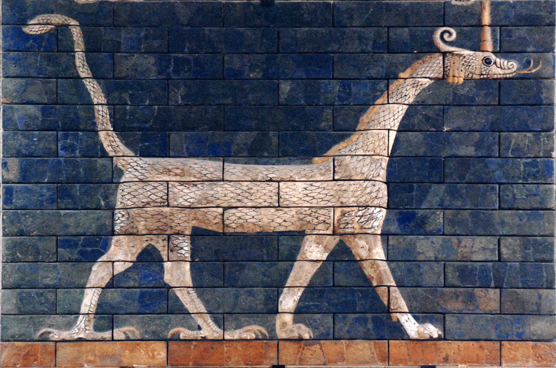 Dragon of the Ishtar Gate (Illustration) - Ancient History Encyclopedia
