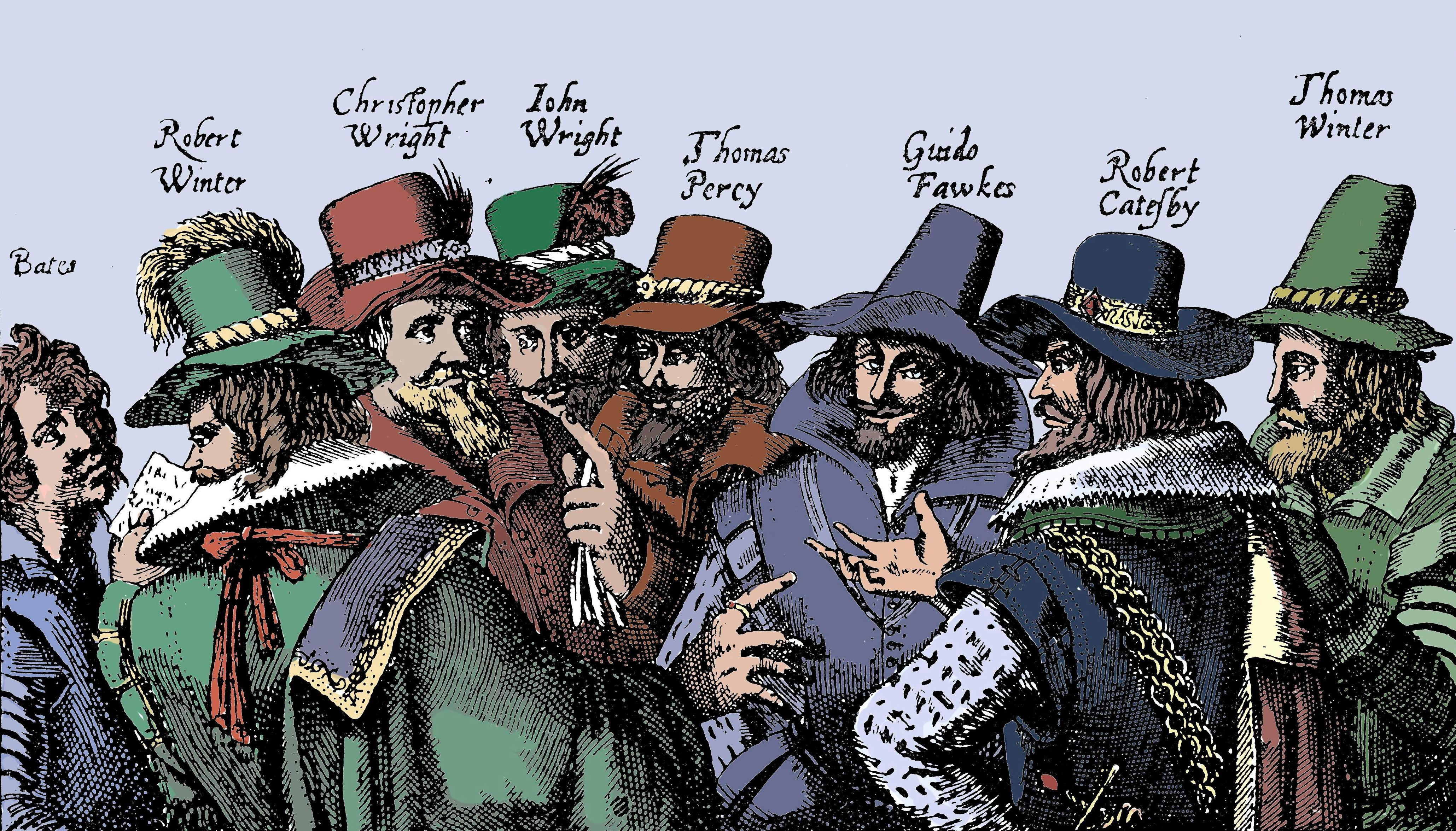 What was the gunpowder plot of 1605 and why did Guy Fawkes and Robert Catesby try to blow up Parliament?